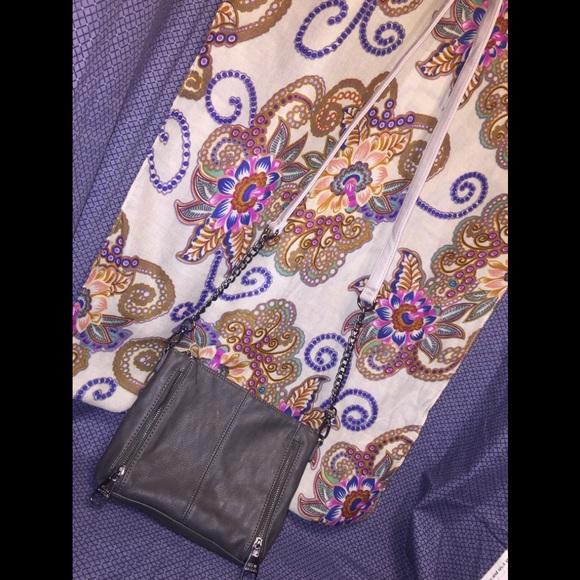 Steve Madden Handbags - Steve Madden's Expandable Gray Chained Crossbody